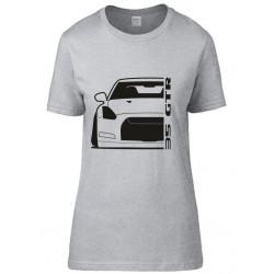 Nissan 35 GTR Outline Modern T-Shirt Lady