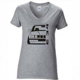 Bmw E34 Outline Modern V-Neck Shirt Lady