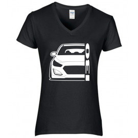 Hyundai I30 GD GDH 2011-2017 Outline Modern V-Neck Shirt Lady