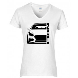 Hyundai I30N Outline Modern V-Neck Shirt Lady