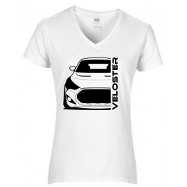 Hyundai Veloster FS Turbo Bj 2013 Outline Modern V-Neck Shirt Lady