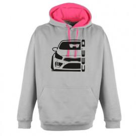 Kia Cee`d  2015 Outline Modern Hoodie Varsity