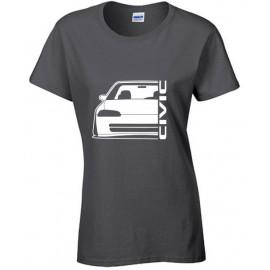 Honda Civic EG8 9 Sedan Outline Modern T-Shirt Lady