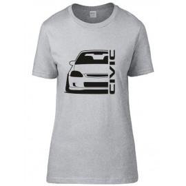Honda Civic Ek Outline Modern T-Shirt Lady