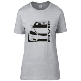 Honda Civic EM2 Facelift Outline Modern T-Shirt Lady