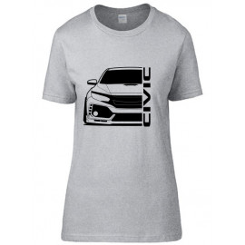 Honda Civic FK8 Type R Outline Modern T-Shirt Lady