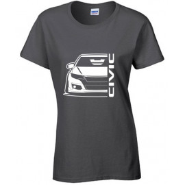 Honda Civic Type R 2015 Outline Modern T-Shirt Lady