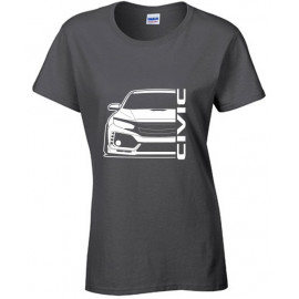 Honda Civic Type R 2017 Outline Modern T-Shirt Lady