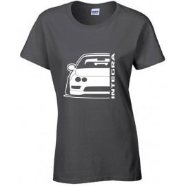 Honda Integra DC2 EDM Outline Modern T-Shirt Lady