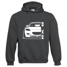 Mazda RX8 R Outline Modern Hoodie
