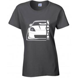 Nissan 350 Z Facelift Outline Modern T-Shirt Lady