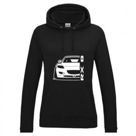 Mazda RX8 R Outline Modern Hoodie Lady