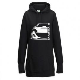 Mazda 3BL MPS Outline Modern Hoodie Lady Longline