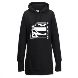 Mazda 6GH Outline Modern Hoodie Lady Longline
