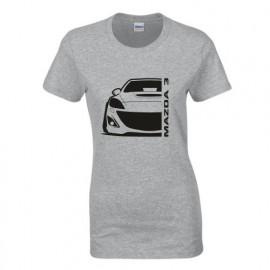 Mazda 3BL MPS Outline Modern T-Shirt Lady