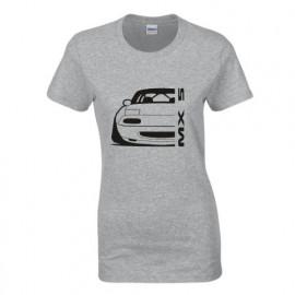 Mazda MX5 Outline Modern T-Shirt Lady
