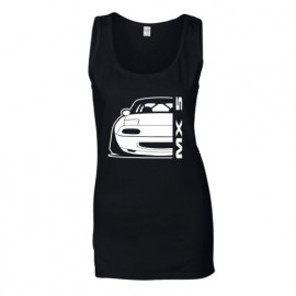 Mazda MX5 Outline Modern Tank Top Lady