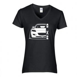 Mazda RX8 R Outline Modern V-Neck Lady