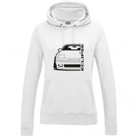 Mitsubishi Eclipse 1G Facelift Outline Modern Hoodie Lady