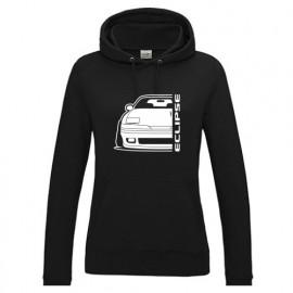 Mitsubishi Eclipse 1G Outline Modern Hoodie Lady