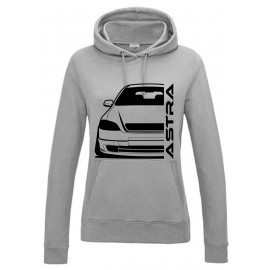 Opel Astra G Foglight Outline Modern Hoodie Lady
