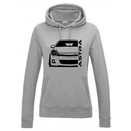 Opel Astra H OPC Outline Modern Hoodie Lady