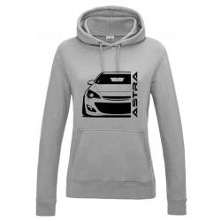 Opel Astra J Outline Modern Hoodie Lady
