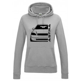 Opel Astra G Outline Modern Hoodie Lady