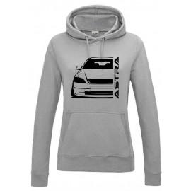 Opel Astra G Outline Modern Hoodie Lady