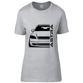 Opel Astra G Foglight Outline Modern T-Shirt Lady
