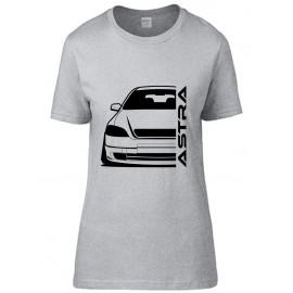 Opel Astra G Foglight Outline Modern T-Shirt Lady