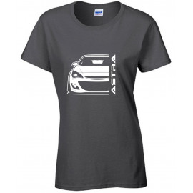 Opel Astra J Outline Modern T-Shirt Lady