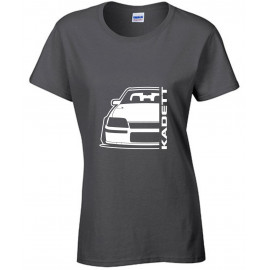 Opel Kadett E GSI Outline Modern T-Shirt Lady