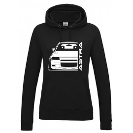 Opel Astra F GSI Outline Modern Hoodie Lady