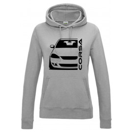 Opel Corsa C GSI Outline Modern Hoodie Lady