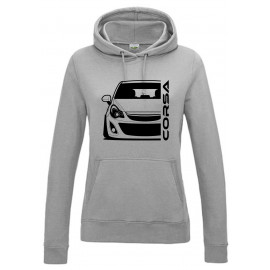 Opel Corsa D Outline Modern Hoodie Lady