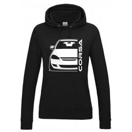 Opel Corsa D Diesel Outline Modern Hoodie Lady