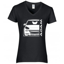 Opel Adam Outline Modern V-Neck Lady