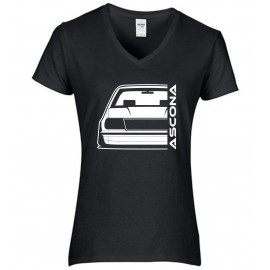 Opel Ascona B Outline Modern V-Neck Lady
