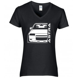 Opel Astra F GSI Outline Modern V-Neck Lady