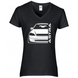 Opel Astra G Outline Modern V-Neck Lady