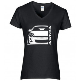 Opel Astra H Outline Modern V-Neck Lady