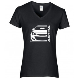 Opel Astra J Outline Modern V-Neck Lady