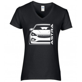 Opel Astra K Modern Outline V-Neck Lady