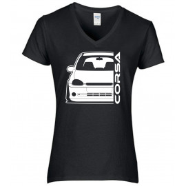 Opel Corsa B GSI Outline Modern V-Neck Lady