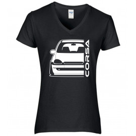 Opel Corsa B Outline Modern V-Neck Lady