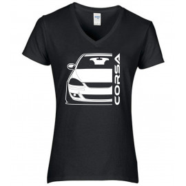 Opel Corsa C GSI Outline Modern V-Neck Lady