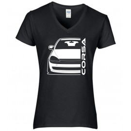 Opel Corsa C Outline Modern V-Neck Lady