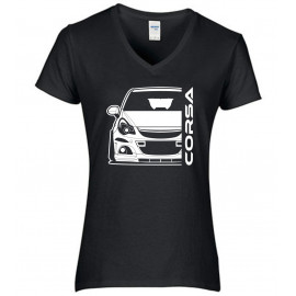 Opel Corsa D OPC Outline Modern V-Neck Lady