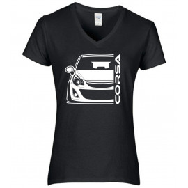 Opel Corsa D Outline Modern V-Neck Lady